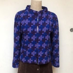 Marc Jacobs Blue and Purple Wool Jacket